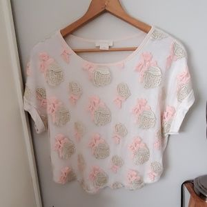 Anthropologie brandlabel Floral Top